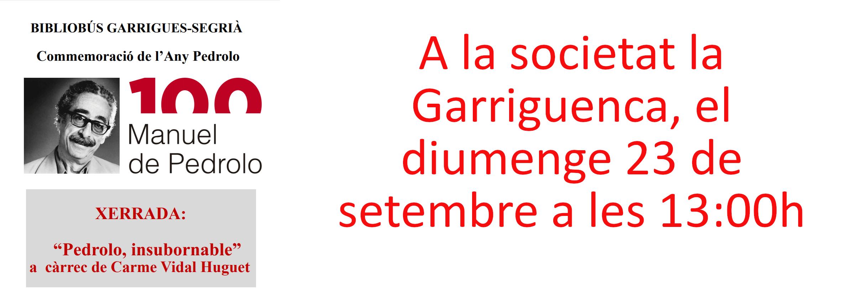 Any Pedrolo - Ajuntament de Llardecans